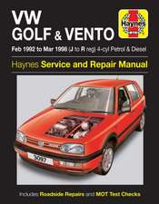 Volkswagen Golf and Vento Petrol and Diesel (Feb 92 - Mar 98) J to R: VW Golf & Vento Petrol & Diesel (Feb 92 - Mar 98) J to R