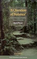 'A Question of Balance'