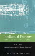 Intellectual Propety: Text and Essential Cases