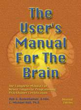 The User's Manual for the Brain:  The Complete Manual for Neuro-Linguistic Programming