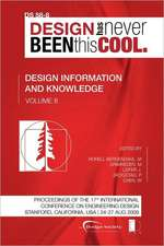 Proceedings of Iced'09, Volume 8, Design Information and Knowledge:  Journey to the Voids