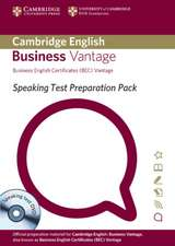 Speaking Test Preparation Pack for BEC Vantage Paperback with DVD