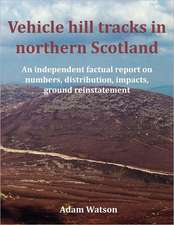 Vehicle hill tracks in northern Scotland
