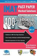 IMAT PAST PAPER WORKED SOLUTIONS