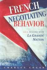 French Negotiating Behavior