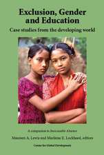Exclusion, Gender and Education: Case Studies from the Developing World