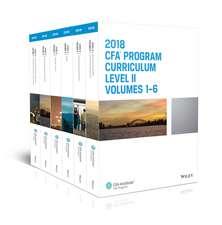 CFA Program Curriculum 2018 Level II