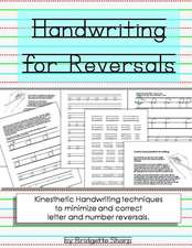 Handwriting for Reversals