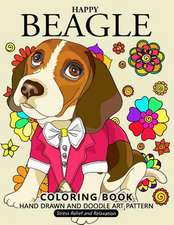 Happy Beagle Coloring Book