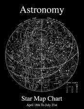 Astronomy Star Map Chart April 18th to July 21st