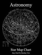 Astronomy Star Map Chart July 22nd to October 31st