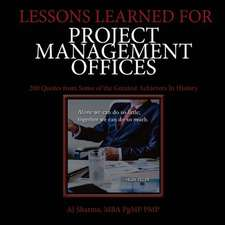 Lessons Learned for Project Management Offices