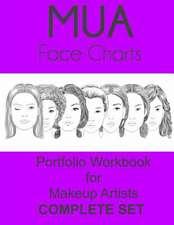 Mua Face Charts Portfolio Workbook for Makeup Artists Complete Set