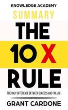 Summary: The 10x Rule: The Only Difference Between Success and Failure