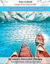 Easy to Read Large Print Dot-To-Dot Beautiful Landscapes