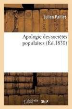 Apologie Des Societes Populaires