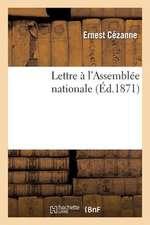 Lettre A L'Assemblee Nationale