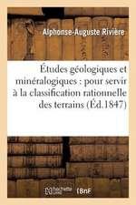 Etudes Geologiques Et Mineralogiques:  Pour Servir a la Classification Rationnelle Des Terrains