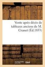 Vente Apres Deces de Tableaux Anciens... de M. Granet...