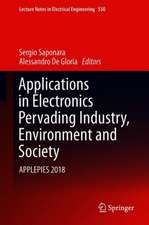 Applications in Electronics Pervading Industry, Environment and Society: APPLEPIES 2018
