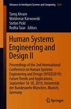 Human Systems Engineering and Design II: Proceedings of the 2nd International Conference on Human Systems Engineering and Design (IHSED2019): Future Trends and Applications, September 16-18, 2019, Universität der Bundeswehr München, Munich, Germany