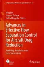 Advances in Effective Flow Separation Control for Aircraft Drag Reduction