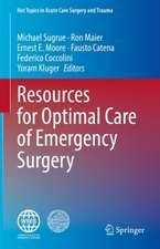 Resources for Optimal Care of Emergency Surgery