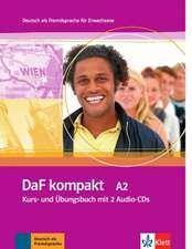 DaF kompakt. Lehr- und Arbeitsbuch mit 2 Audio-CDs. A2