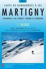 Swisstopo 1 : 50 000 Martigny Skiroutenkarte
