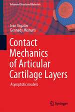 Contact Mechanics of Articular Cartilage Layers: Asymptotic Models