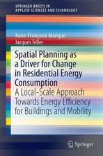 Spatial Planning as a Driver for Change in Residential Energy Consumption