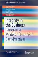Integrity in the Business Panorama: Models of European Best-Practices