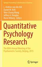 Quantitative Psychology Research: The 80th Annual Meeting of the Psychometric Society, Beijing, 2015