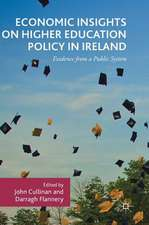 Economic Insights on Higher Education Policy in Ireland: Evidence from a Public System