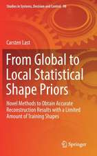 From Global to Local Statistical Shape Priors: Novel Methods to Obtain Accurate Reconstruction Results with a Limited Amount of Training Shapes