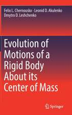 Evolution of Motions of a Rigid Body About its Center of Mass