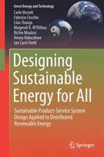 Designing Sustainable Energy for All: Sustainable Product-Service System Design Applied to Distributed Renewable Energy
