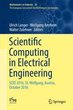 Scientific Computing in Electrical Engineering: SCEE 2016, St. Wolfgang, Austria, October 2016