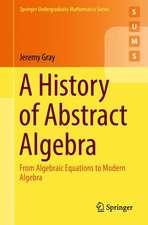 A History of Abstract Algebra: From Algebraic Equations to Modern Algebra