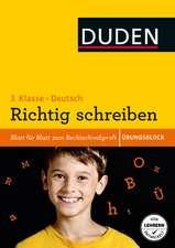 Übungsblock: Deutsch - Richtig schreiben 3. Klasse