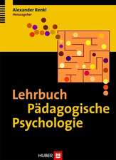 Lehrbuch Pädagogische Psychologie