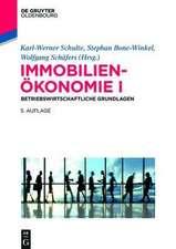 Immobilienökonomie I: Betriebswirtschaftliche Grundlagen