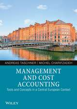Management and Cost Accounting: Tools and Concepts in a Central European Context