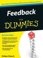 Erfolgreich Feedback geben für Dummies