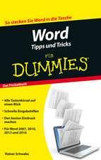 Word Tipps und Tricks für Dummies