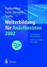 Weiterbildung für Anästhesisten 2002