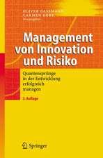 Management von Innovation und Risiko: Quantensprünge in der Entwicklung erfolgreich managen