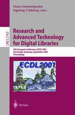 Research and Advanced Technology for Digital Libraries: 5th European Conference, ECDL 2001, Darmstadt, Germany, September 4-9, 2001. Proceedings