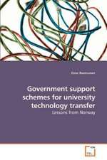 Government support schemes for university technology transfer