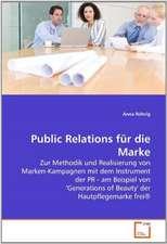 Public Relations für die Marke